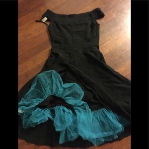 Ruby Rox Small 5-6 blk swing dress Pinup